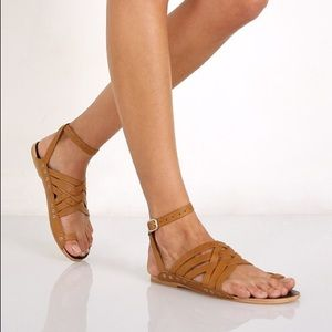 NWOT Free People Belize Strappy Leather Sandal